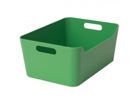BOX STORAGE VARIERA GREEN WITH HANDLES