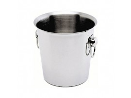 BUCKET WINE RING HANDLES S/S 4LT