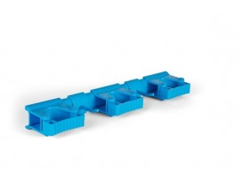BRACKET WALL HYGENIC HIFLEX BLUE 420MM