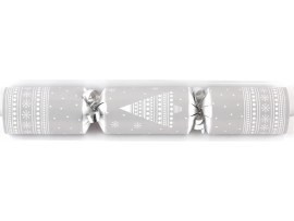 "10"" SILVER & WHITE PRESENT  CRACKERS"