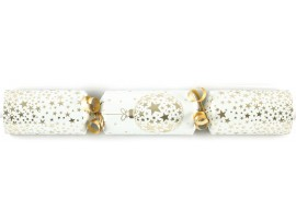 "11"" CREAM & GOLD BAUBLE CRACKERS"