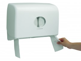 DISPENSER TWIN MINI JUMBO TOILET TISSUE