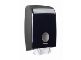 DISPENSER AQUARIUS FOLDED HAND TOWEL BLACK